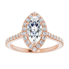 Marquise Halo Style Engagement Ring