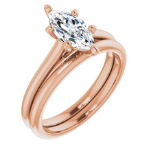 Six Claw Marquise Solitaire Engagement Ring