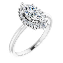 Marquise Antique Inspired Design Engagement Ring