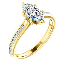 Marquise Channel Set Style Engagement Ring - I Heart Moissanites