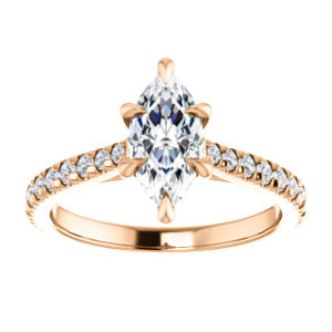 Marquise Six Claw Set Style Engagement Ring - I Heart Moissanites