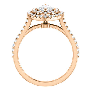 Marquise Double Halo Style Engagement Ring - I Heart Moissanites