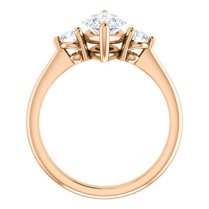 Marquise Accent Engagement Ring - I Heart Moissanites