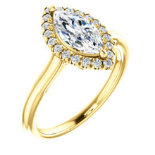 Marquise Halo Style Engagement Ring - I Heart Moissanites