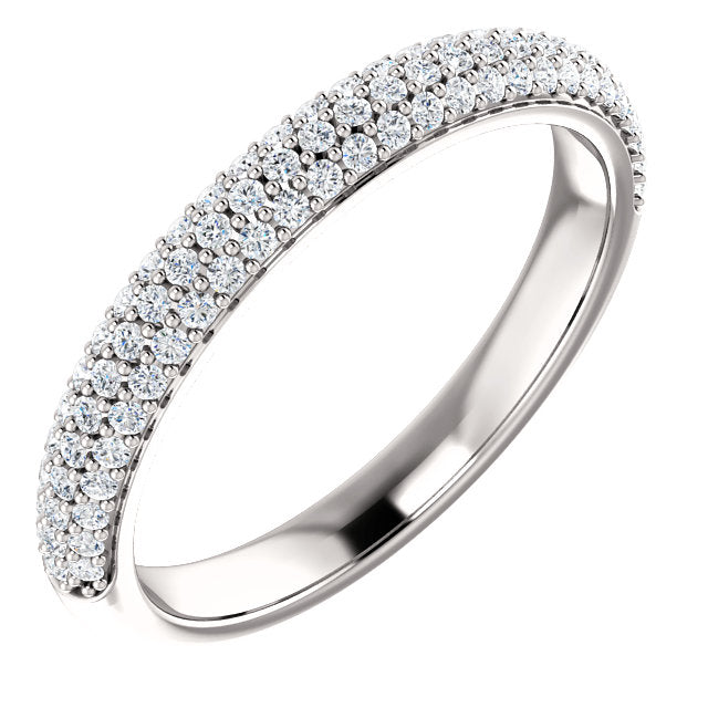 Moissanite Pave Style Wedding Band - I Heart Moissanites