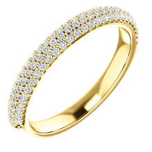 Diamond Pave Style Wedding Band - I Heart Moissanites