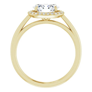 Oval East West Halo Style Engagement Ring