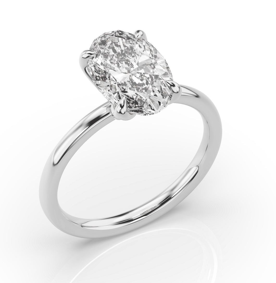4ct Oval Solitaire Engagement Ring