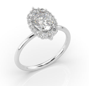 1.75ct Antique Oval Halo Engagement Ring