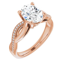 Oval Claw Set Twist Style Engagement Ring