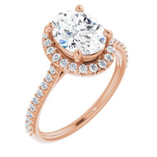 Oval Halo Style Engagement Ring