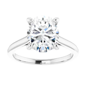 Four Claw Oval Solitaire Engagement Ring