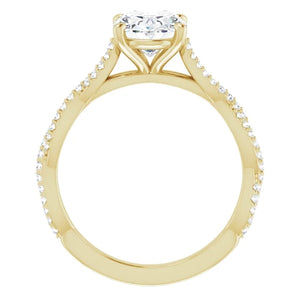 Oval Twist Style Engagement Ring