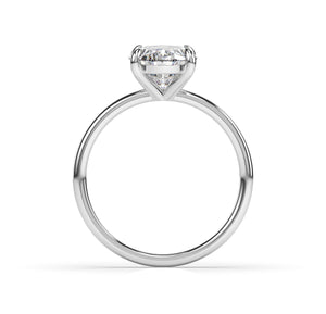 4ct Oval Thin Band Solitaire Engagement Ring