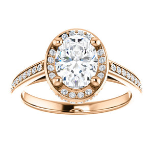 Oval Halo Style Engagement Ring - I Heart Moissanites