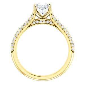 Oval Pave Style Engagement Ring - I Heart Moissanites