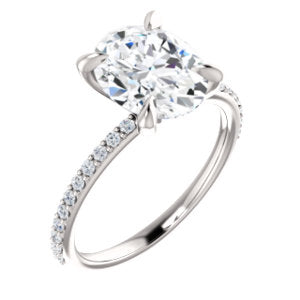 Oval Claw Set Style Engagement Ring - I Heart Moissanites