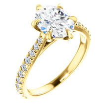 Oval Six Claw Set Style Engagement Ring - I Heart Moissanites