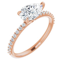 Pear East West Style Engagement Ring