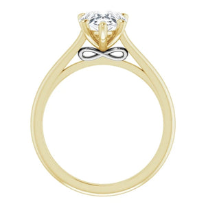Five Claw Pear Solitaire Engagement Ring