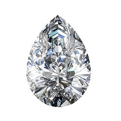 Crushed Ice Pear Cut Moissanite - I Heart Moissanites