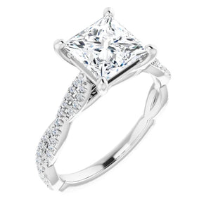 Princess Twist Style Engagement Ring