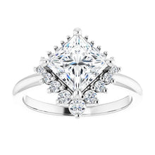 Princess Antique Inspired Design Engagement Ring