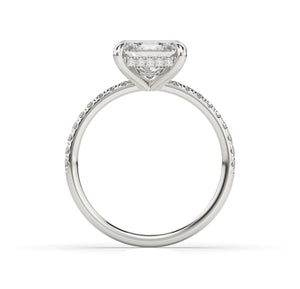 Princess Hidden Halo Engagement Ring