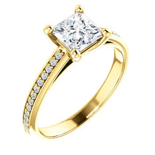 Princess Claw Set Style Engagement Ring - I Heart Moissanites