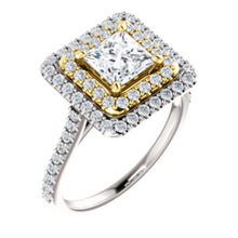 Princess Double Halo Style Engagement Ring - I Heart Moissanites