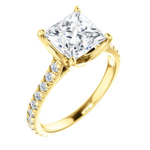 Princess Claw Set Eternity Style Engagement Ring - I Heart Moissanites