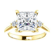 Princess Accent Engagement Ring - I Heart Moissanites