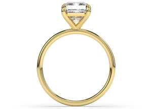 Radiant Thin Band Solitaire Engagement Ring
