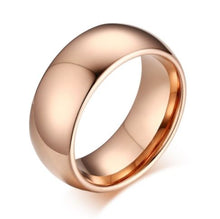 Tungsten Rose Polished Comfort Fit 8mm Men's Ring