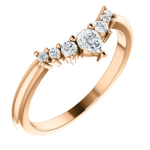 Diamond Contour Wedding Band - I Heart Moissanites