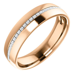 Men's Diamond Wedding Band - I Heart Moissanites