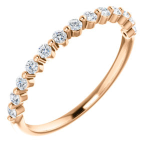 Diamond Anniversary Band - I Heart Moissanites