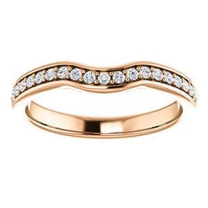 Curved Diamond Wedding Band - I Heart Moissanites