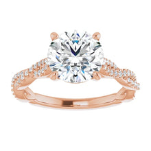 Round Brilliant Twist Style Engagement Ring