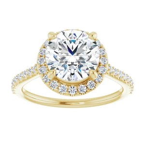 Round Brilliant Halo Style Engagement Ring