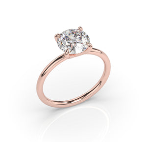 2ct Round Brilliant Thin Band Engagement Ring