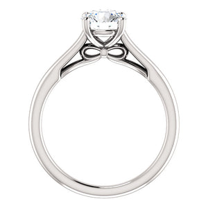 Four Claw Round Brilliant Solitaire Engagement Ring - I Heart Moissanites
