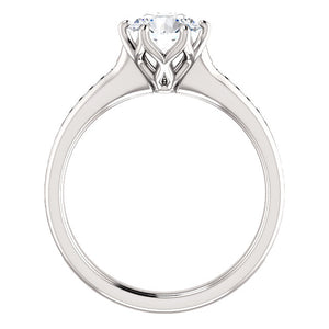 Round Brilliant Channel Set Style Engagement Ring - I Heart Moissanites