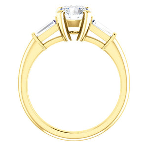 Round Accent Engagement Ring - I Heart Moissanites