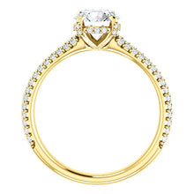 Round Brilliant Pave Style Engagement Ring - I Heart Moissanites
