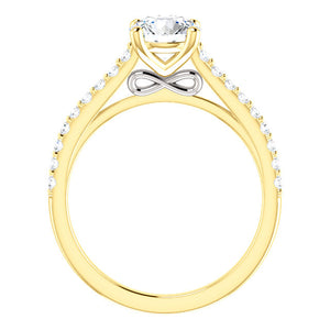 Round Brilliant Claw Set Style Engagement Ring - I Heart Moissanites