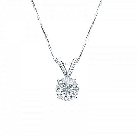 4 Claw Solitaire Pendant - I Heart Moissanites