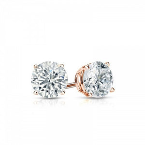Solitaire Stud Earrings - I Heart Moissanites