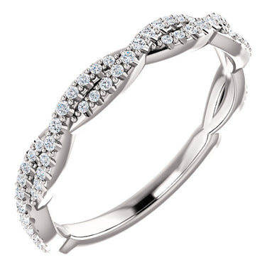 Diamond Twist Wedding Band - I Heart Moissanites