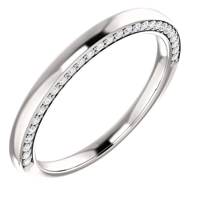 Hidden Diamond Wedding Band - I Heart Moissanites